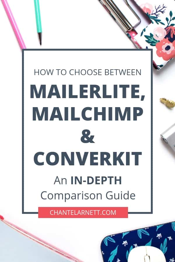 MailerLite vs Mailchimp vs ConvertKit... MailerLite is free to start but has advanced features like ConvertKit. I switched from MailChimp to MailerLite. Here are 7 reasons I'm not switching again!
