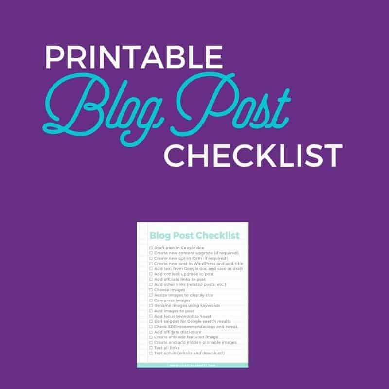 Free Resource Blog Post Checklist