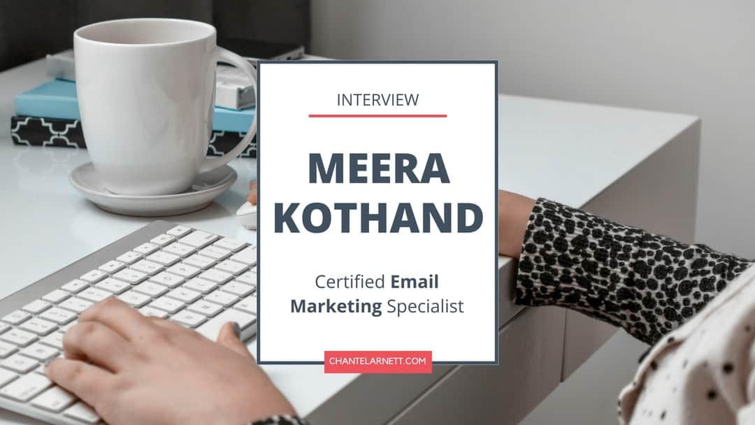 Meera Kothand Interview