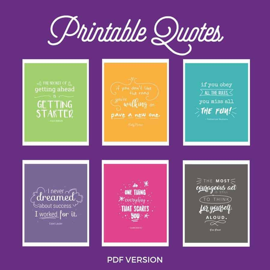 Printable quotes suitable for framing