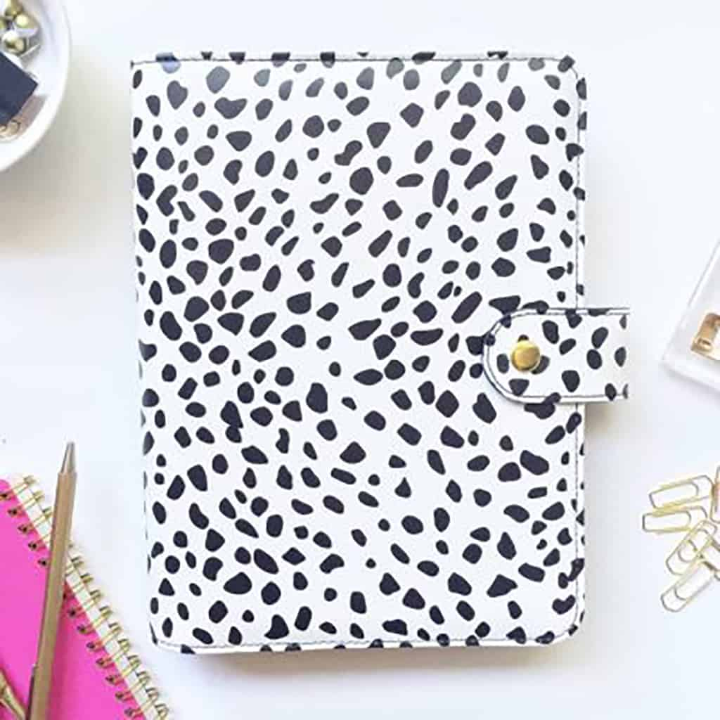 Day Designer Binder - Spotty in Black