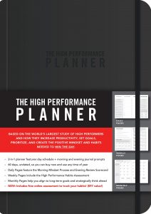 The High Performance Planner in black