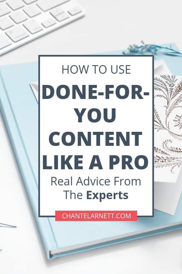 Using done for you content to to help your audience and grow your business is so easy! You can use done for you content to grow and nurture your email list, to fill your social media calendar, create freebies and opt-ins, create webinars and much more! Follow these tips from the pros to get started!