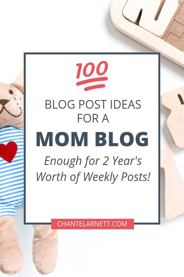 It's important to have great content for your blog!  But when you're a busy mom, it isn't always easy to come up with ideas! Use this list of 100 mom blog post ideas to get started writing!  | mom blog ideas | mom blog topics