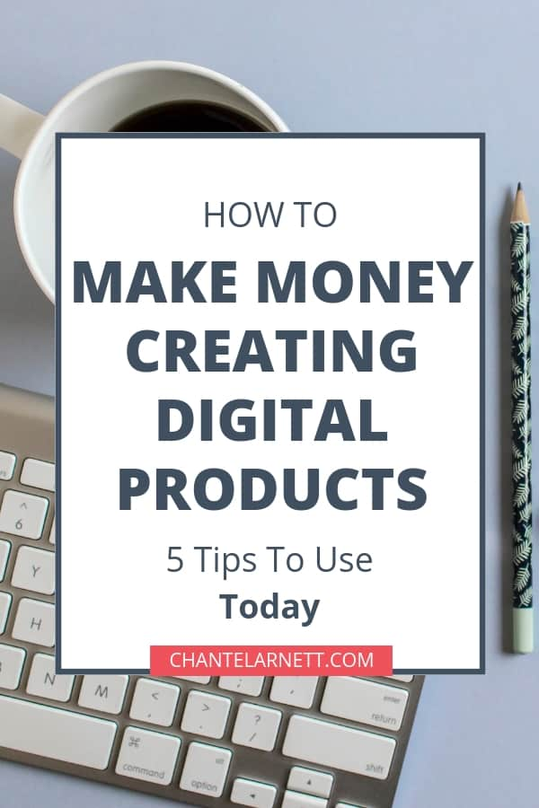 Want to create digital products to sell online? Share what you know with your audience and focus on their problems. Use these 5 ideas to get started creating your own digital products today!
