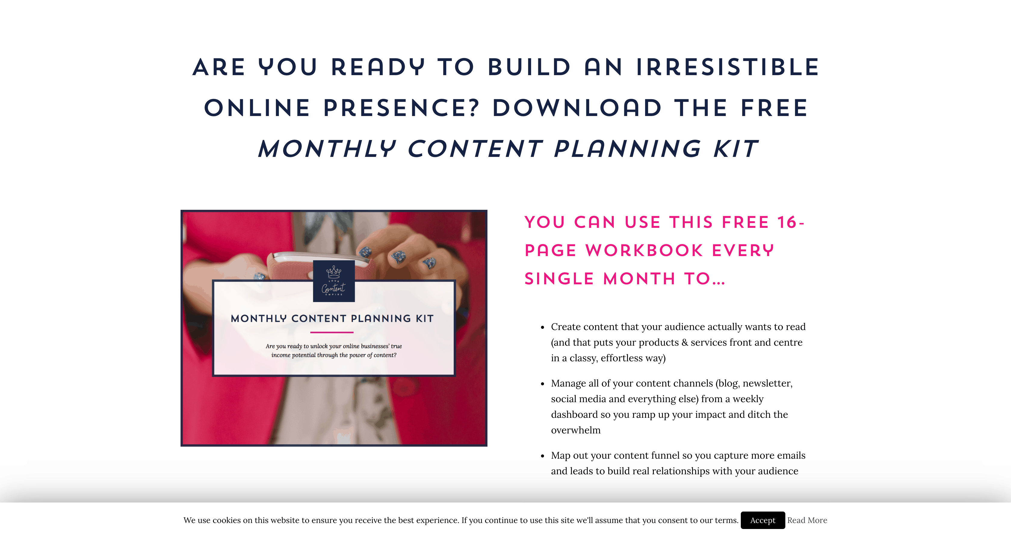 Monthly Content Planning Kit