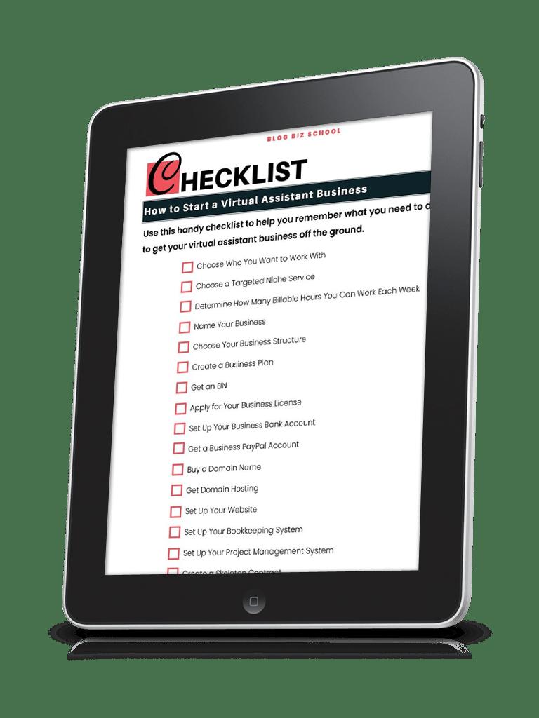 va launch prep checklist on ipad