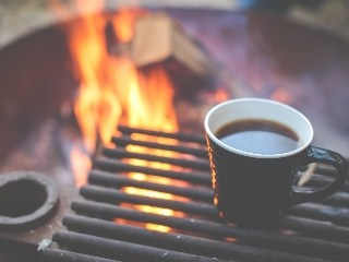 Stocksnap stock photo coffee by campfire