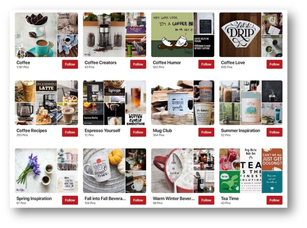 mr coffees pinterest for business page