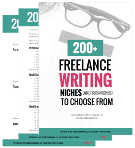 freelance writing niches