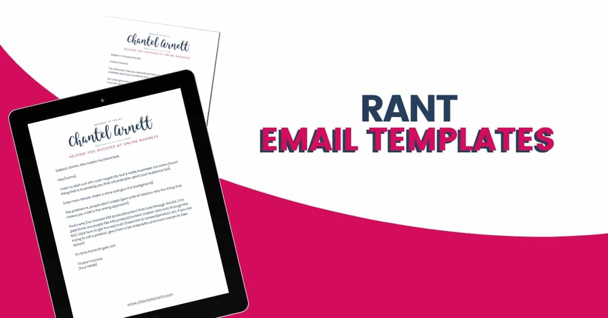RANT EMAIL TEMPLATES