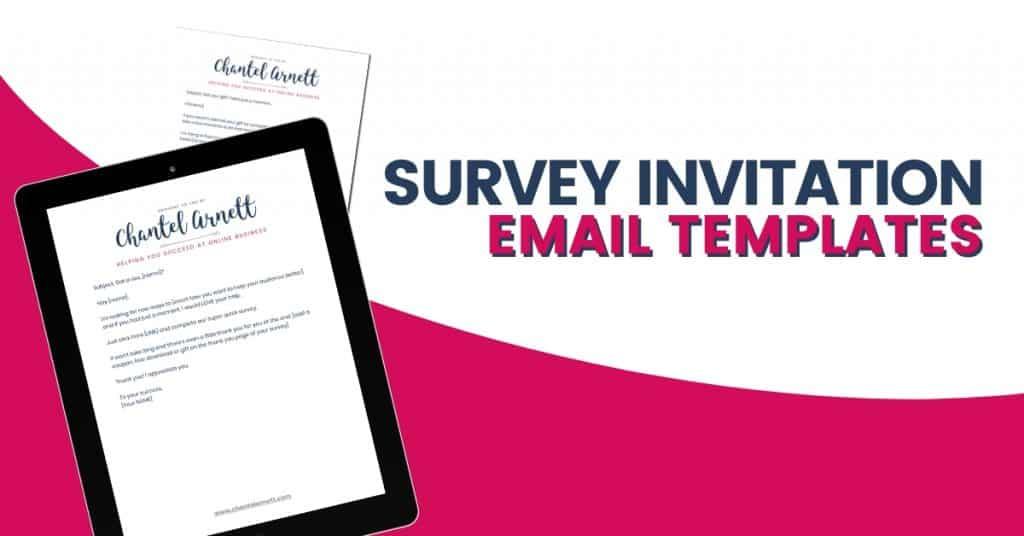 SURVEY INVITATION EMAIL TEMPLATES