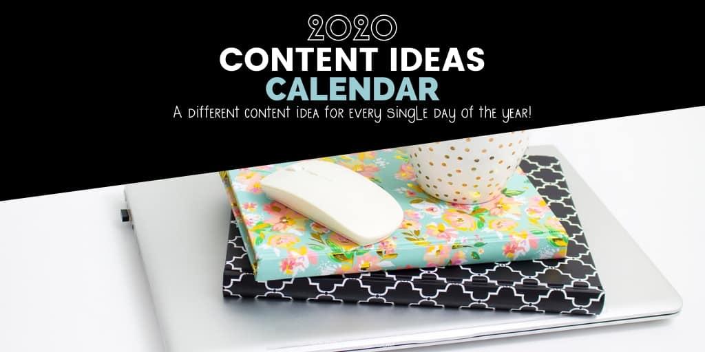 content ideas calendar
