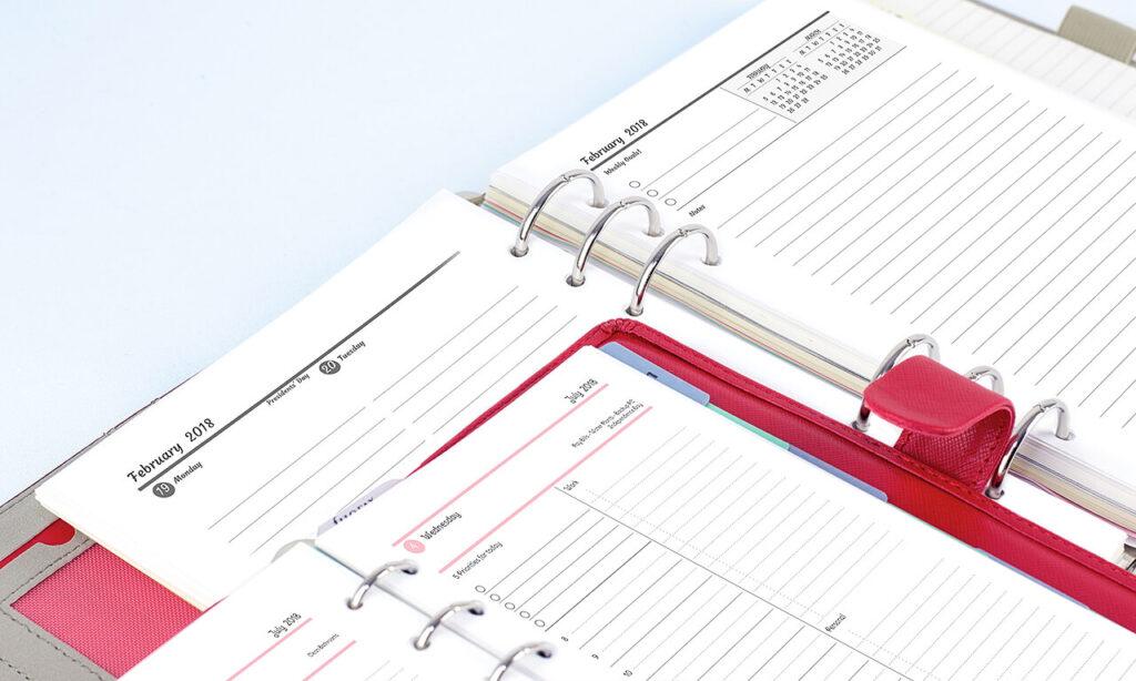 agendio customizable planners